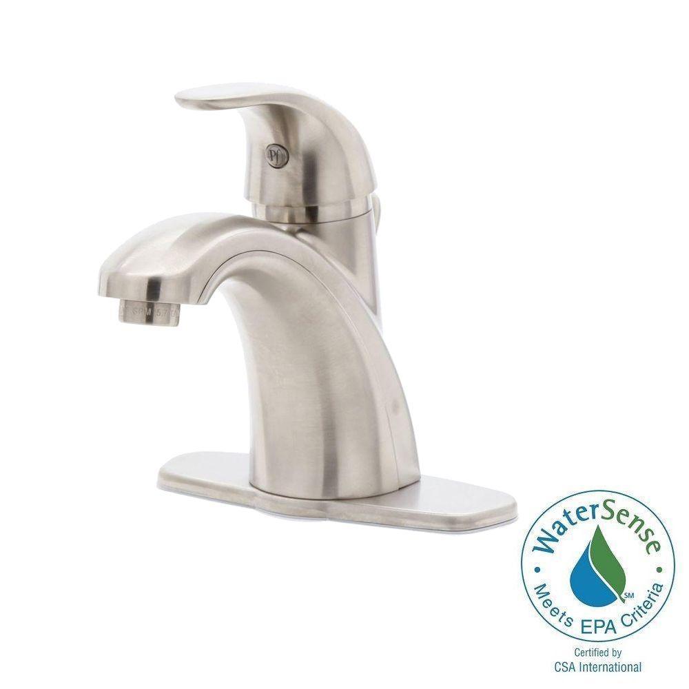 Pfister Parisa 4 in. Centerset Single-Handle Bathroom Faucet in Brushed Nickel