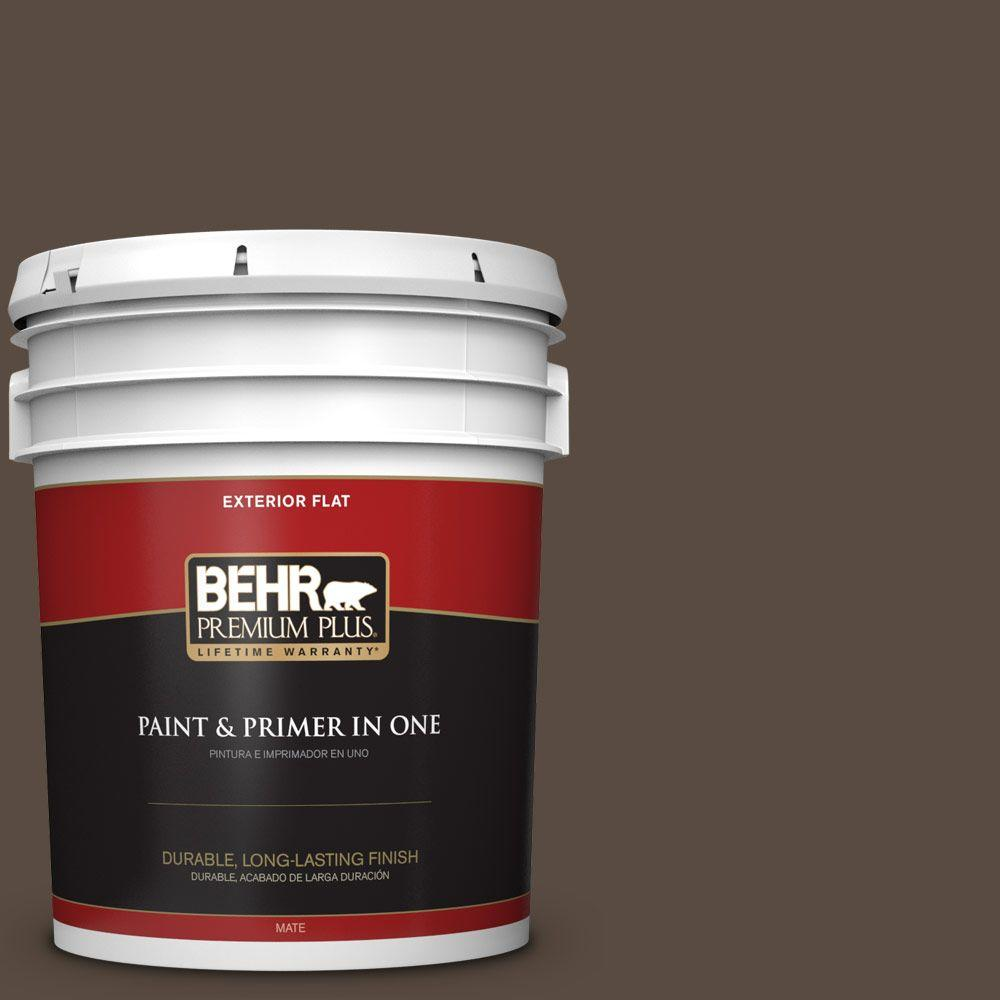 5 gal. #HDC-FL15-05 Warm Pumpernickel Flat Exterior Paint