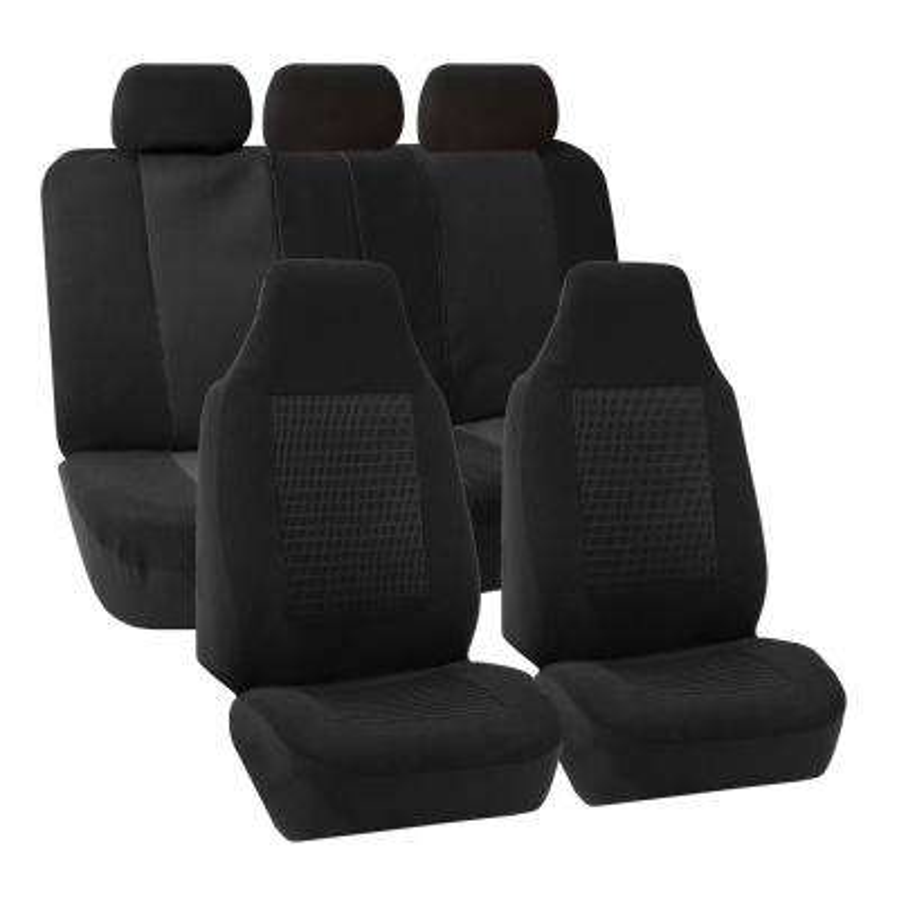 Premium Fabric 47 in. x 23 in. x 1 in. Full Set Seat Covers