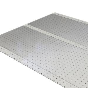 Es Robbins Clear 36 In X 10 Ft Vinyl Ribbed Runner