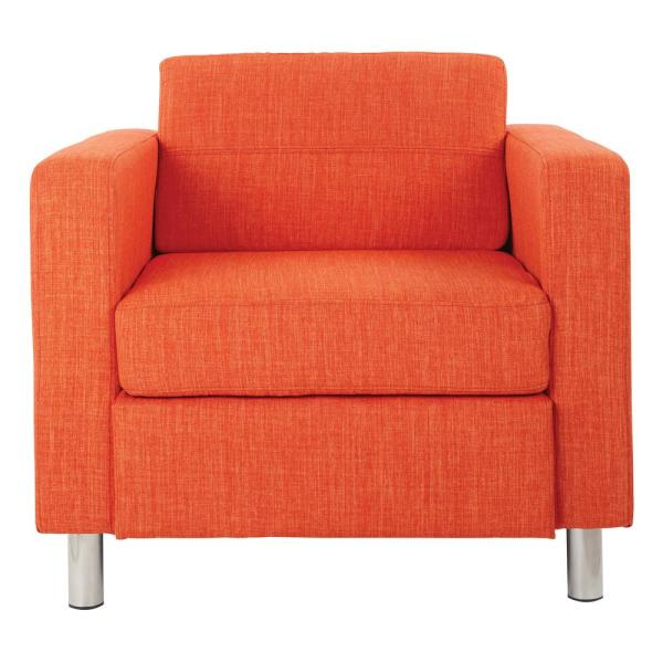 Office Star Products Pacific Tangerine Fabric Arm Chair