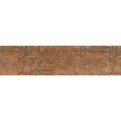 Ecowood Copper 6 in. x 24 in. Glazed Porcelain Floor and Wall Tile (16 sq. ft. / case)