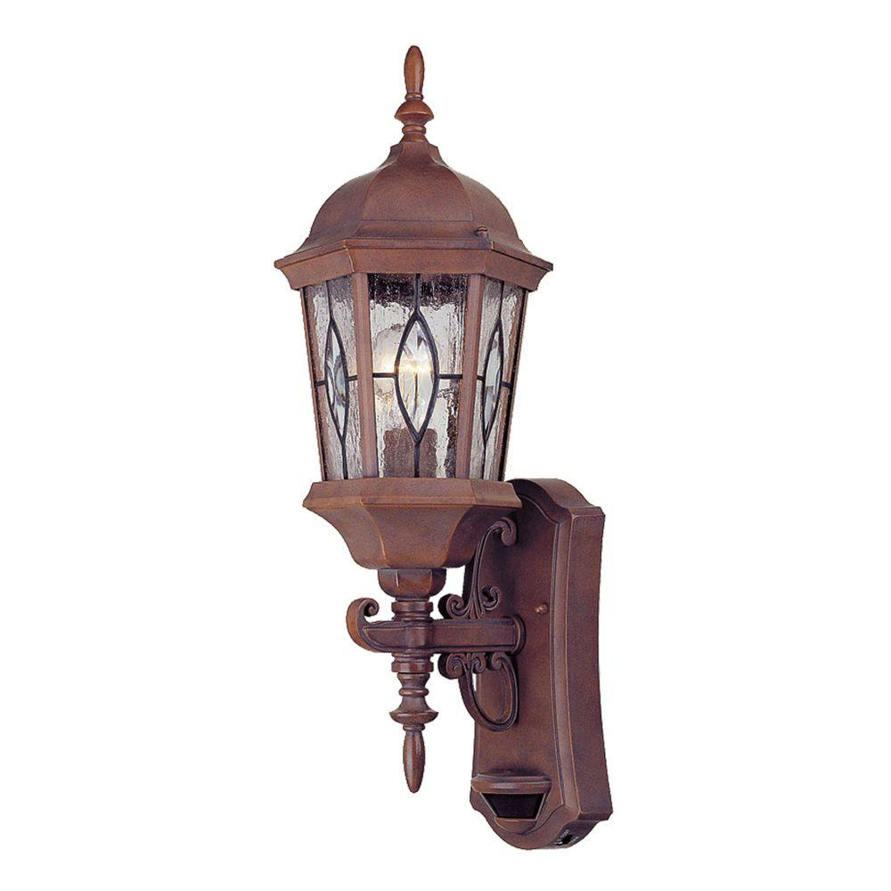 null Wall-Mount Outdoor Lantern with Motion Detector-DISCONTINUED