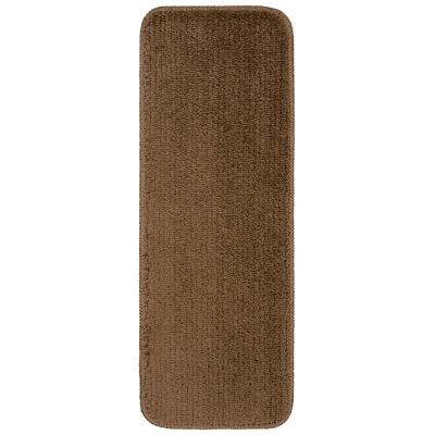 Softy Collection Brown 9 in. x 26 in. Rubber Back Stair Tread Cover (Set of 7)