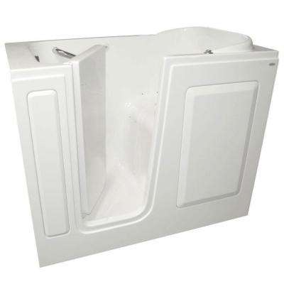 Gelcoat 48 in. x 28 in. Left Hand Quick Drain Walk-In Air Bath Tub in White