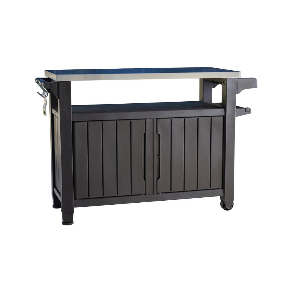 Unity Xl 78 Gal Grill Serving Prep Station Cart With Patio Storage