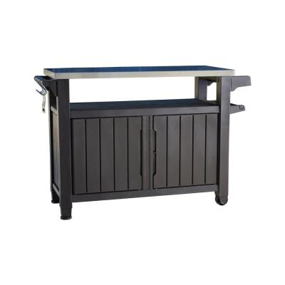 Unity XL 78 Gal. Grill Serving Prep Station Cart with Patio Storage