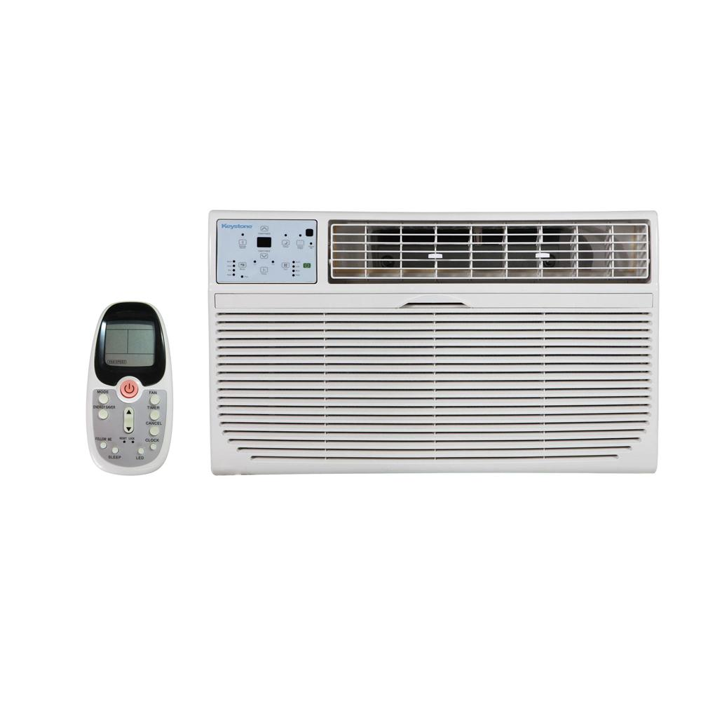 Keystone 14 000 Btu 230 Volt Through The Wall Air Conditioner With Heat And Remote Kstat14 2hc The Home Depot
