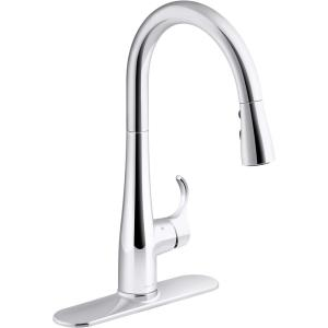 Simplice Touchless Single-Handle Pull-Down Sprayer Kitchen Faucet in Polished Chrome