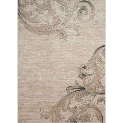 Maxell Mocha 5 ft. 3 in. x 7 ft. 3 in. Area Rug