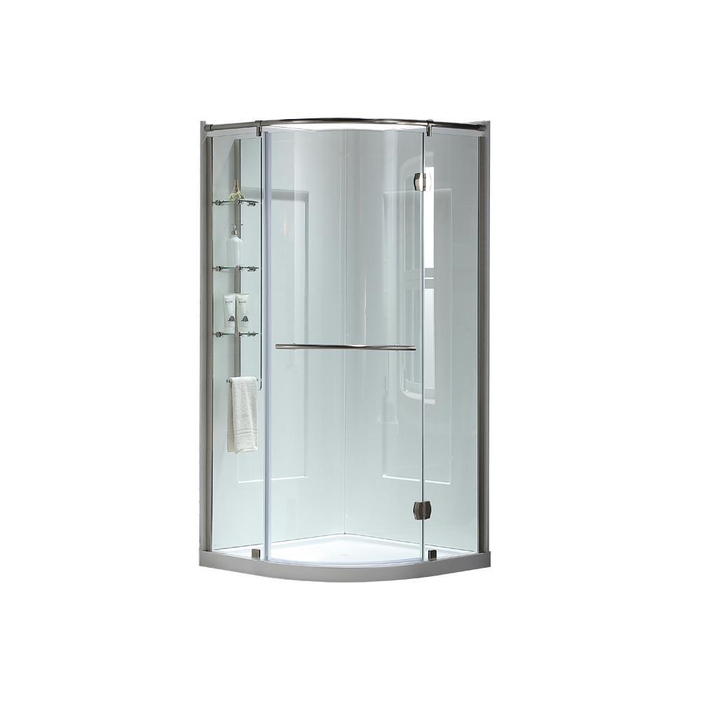OVE Decors Amber 38 in. x 38 in. x 81 in. Corner Shower Kit in ...
