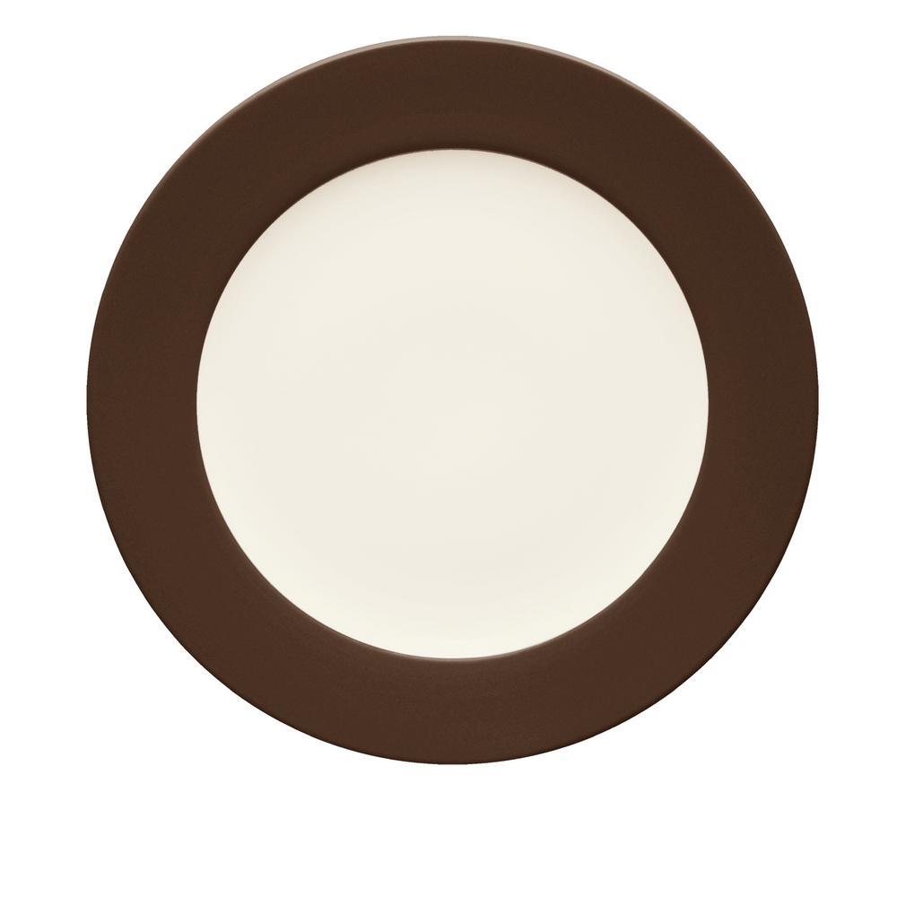 Colorwave 11 in. Chocolate Rim Dinner Plate