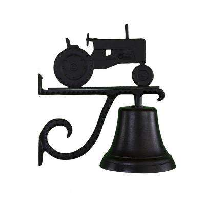 Cast Bell with Black Tractor Ornament