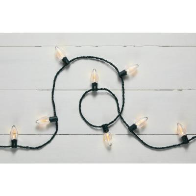 32.66 ft. 50-Light LED C9 Warm White Super Bright String Light