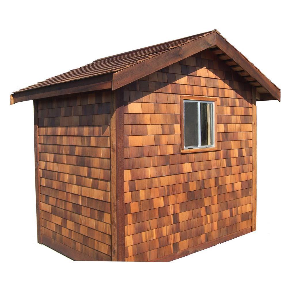 Greenstone 8 ft. x 10 ft. Cedar Shed Precut Kit-DISCONTINUED
