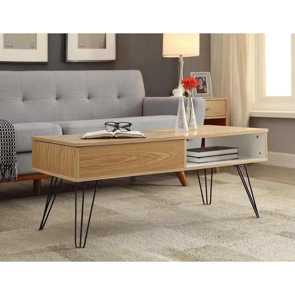 perry light brown ash veneer coffee table - Light Colored Coffee Tables