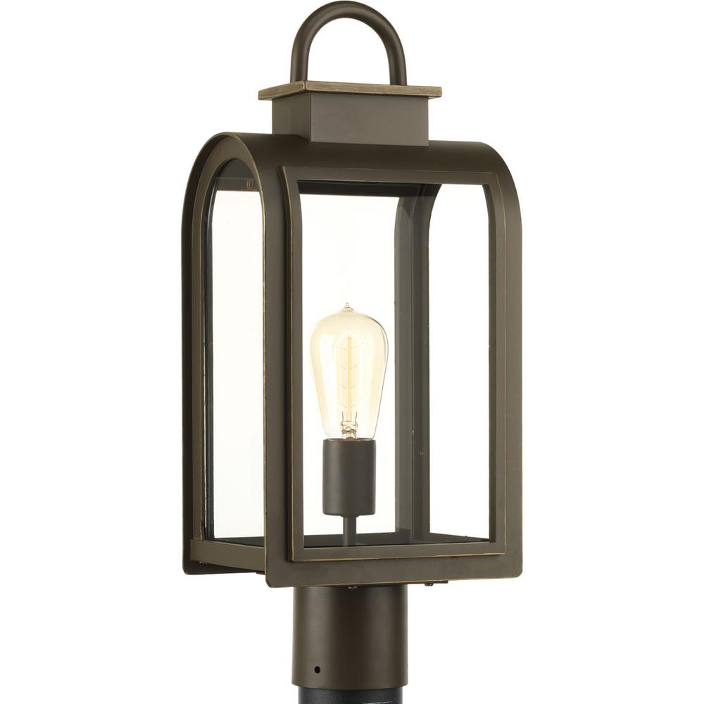 Refuge Collection 1-Light Oil-Rubbed Bronze Outdoor Post Lantern