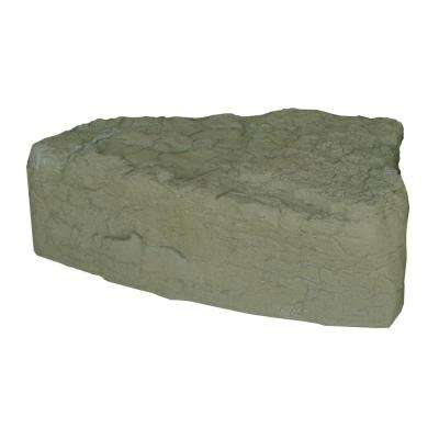"14""Hx 27""W x 35""L -LEFT TRIANGE LANDSCAPING ROCK - OAK"