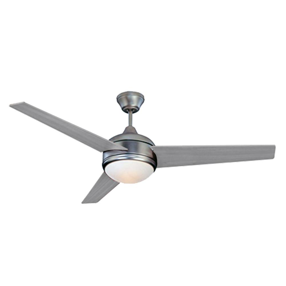 Homeselects Loft 52 In Integrated Led Brushed Nickel Ceiling Fan With Dimmable Light 2068 The Home Depot