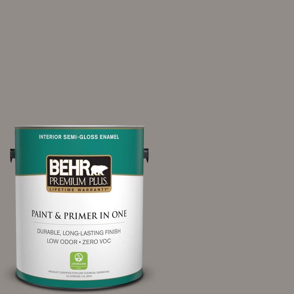 BEHR Premium Plus 1-gal. #790F-4 Creek Bend Zero VOC Semi-Gloss Enamel Interior Paint