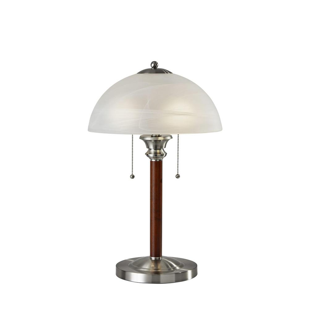 Lexington 22.5 in. Dark Walnut Table Lamp