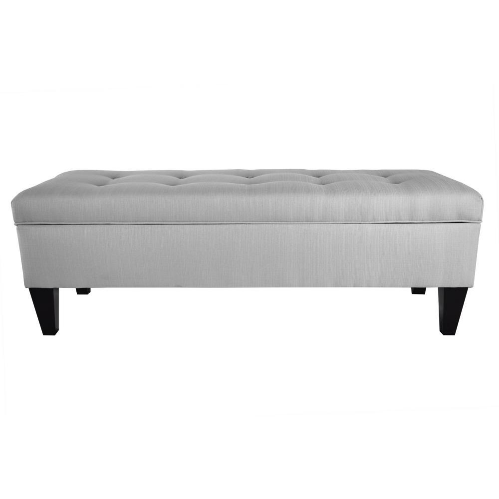 MJL Furniture Designs Brooke Sachi Silver 10-Button Tufted Upholstered Long