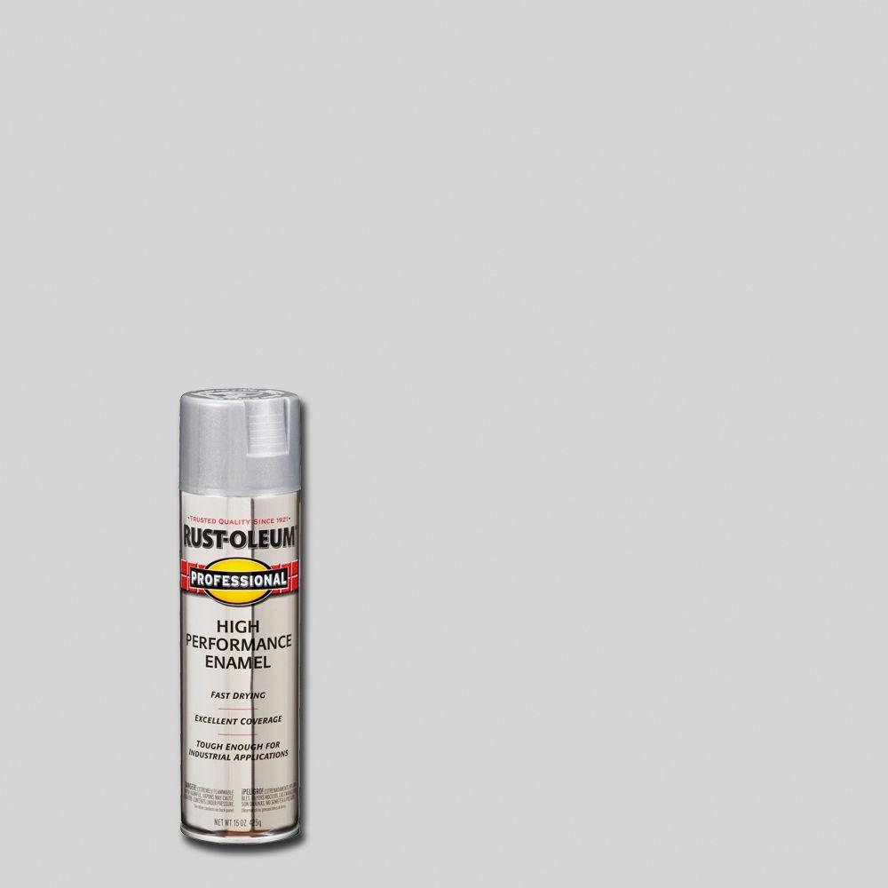 Rust Oleum Professional 15 Oz High Performance Enamel Gloss Aluminum Spray Paint 7515838 The Home Depot