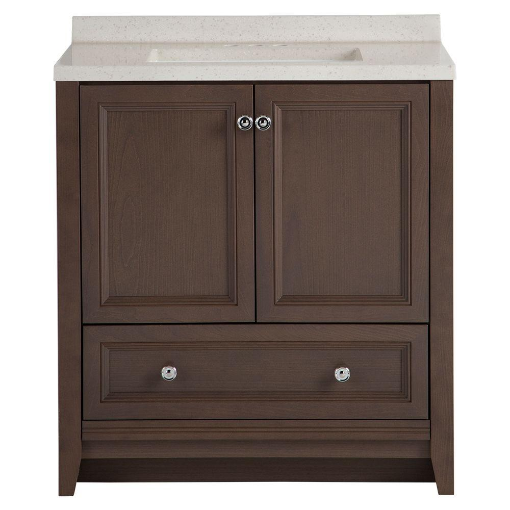 Glacier Bay Delridge 30 In W X 19 In D Bath Vanity In