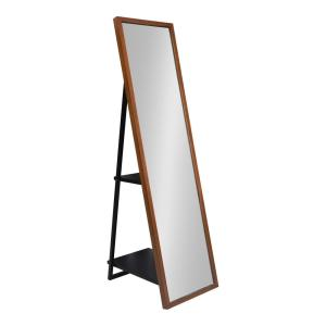 Large Brown Plastic Classic Mirror (60 in. H X 16 in. W)