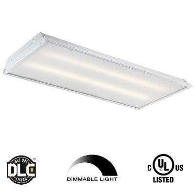 2 ft. x 4 ft. 128-Watt Equivalent White Prismatic Lens Integrated LED Commercial Grid Ceiling Troffer (2-Pack)