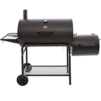 Smokin' Champ Charcoal Grill Horizontal Smoker in Black