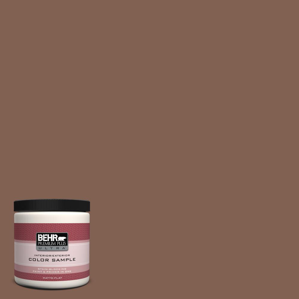 8 oz. #HDC-SP14-6 Tilled Earth Flat/Matte Interior/Exterior Paint Sample