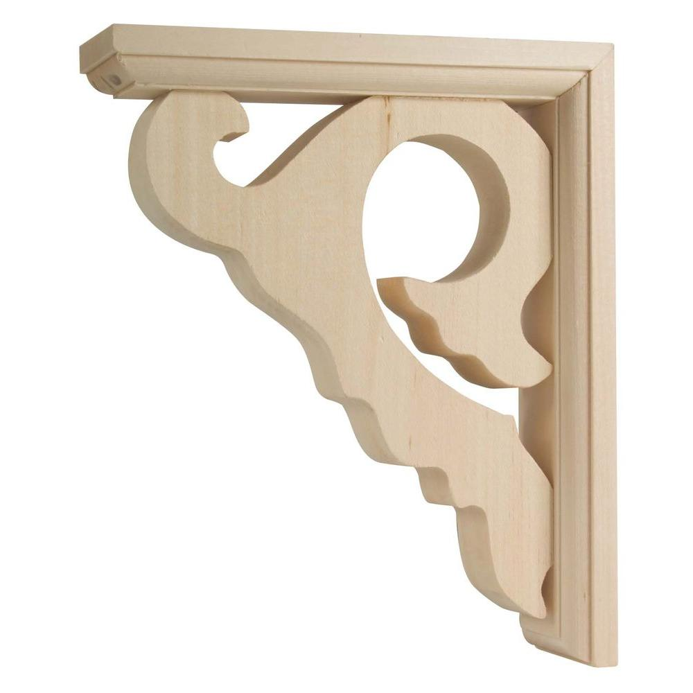 Waddell 7 in. x 8.5 in. x 2.25 in. Wood Unfinished Sconce Scroll