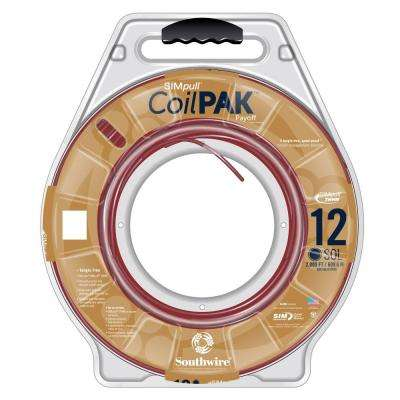 2000 ft. 12 Red Solid CU CoilPAK SIMpull THHN-THWN Wire