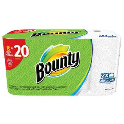 2-Ply White Paper Towels (8 Huge Rolls)