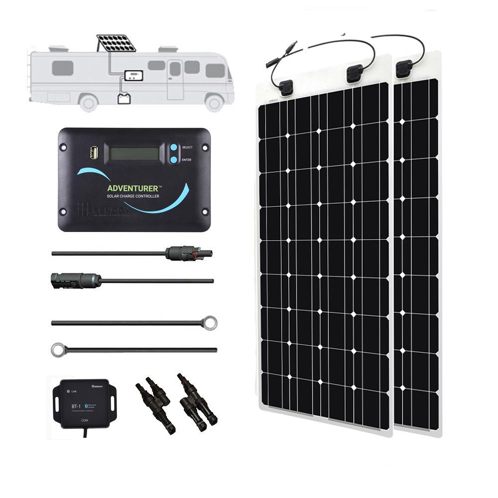 200-Watt 12-Volt Monocrystalline Solar RV Kit for Off-Grid Solar System