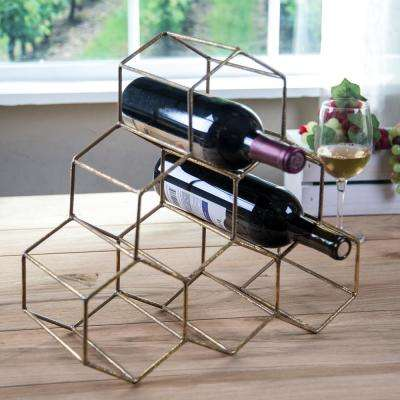 Geometric 6-Bottle Wine Rack