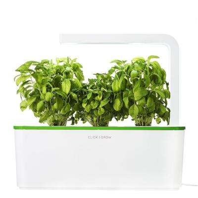 Smart Herb Garden with 3 Basil Cartridges Indoor Culinary Herb Grow Kit (Kiwi-Green Lid)