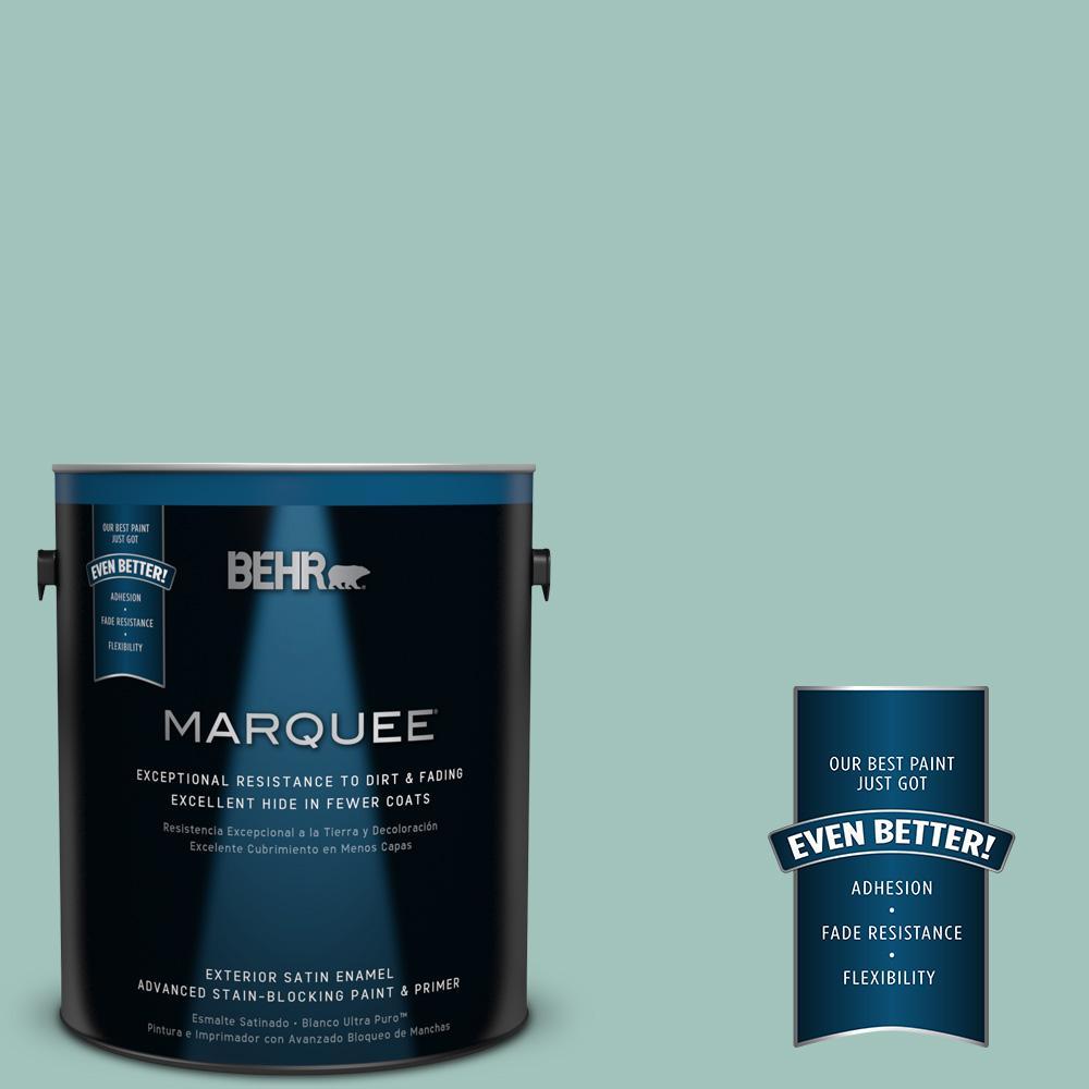 BEHR MARQUEE 1-gal. #MQ6-36 Cascade Green Satin Enamel Exterior Paint