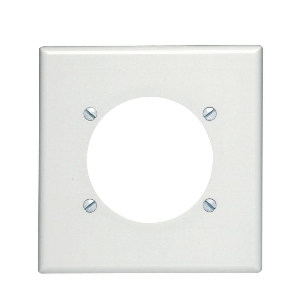 2-Gang Standard Size with 2.465 in. Dia Hole Plastic Power Outlet