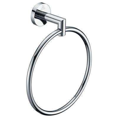 Caster 2 Series Towel Ring in Polished Chrome