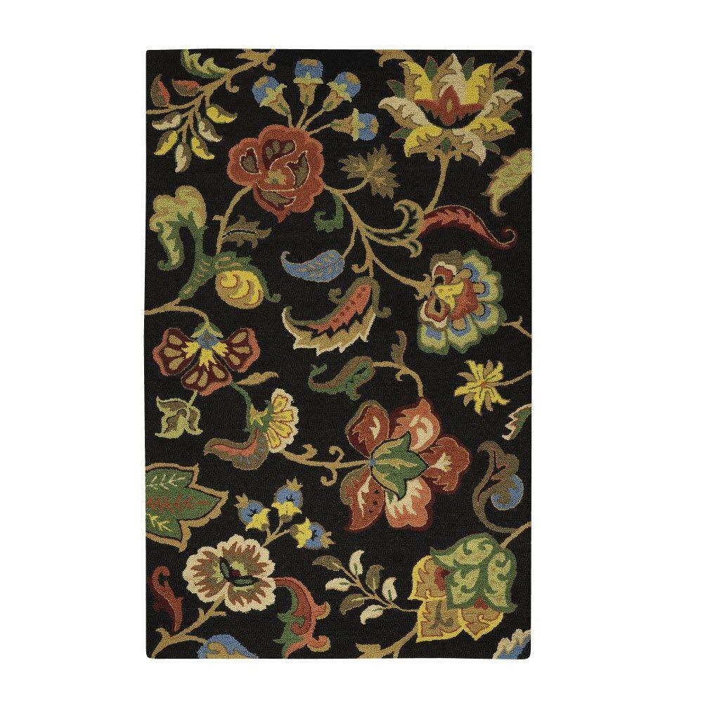 Home Decorators Collection Chintz Charcoal 2 ft. x 3 ft. Area Rug