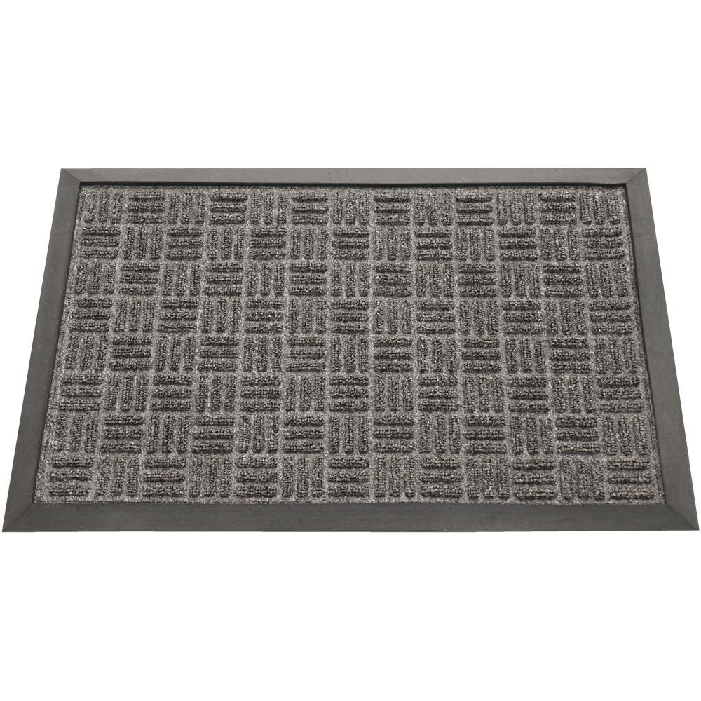 Wellington Carpet Doormat Charcoal 16 in. x 24 in. Rubber Carpet Mat