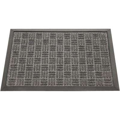 Wellington Carpet Doormat Charcoal 18 in. x 30 in. Rubber Carpet Mat