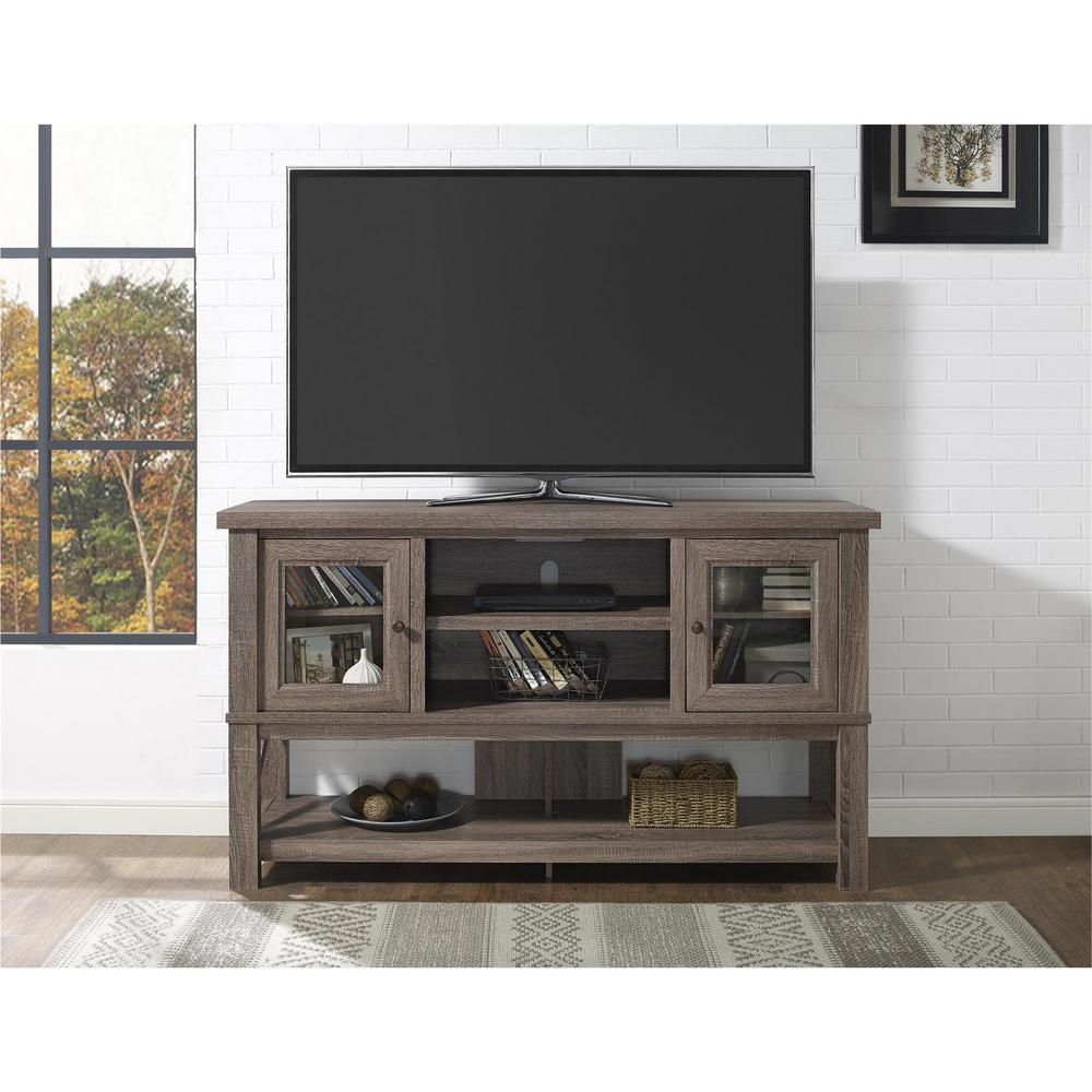 Altra Furniture Everette Sonoma Oak Entertainment Center-1785096COM ...