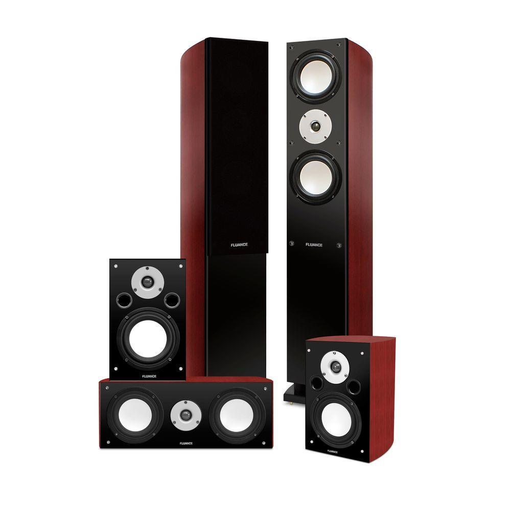 Fluance XLHTB 120 - 200 Watt 5.0 Channel Wired Surround Sound Speaker System