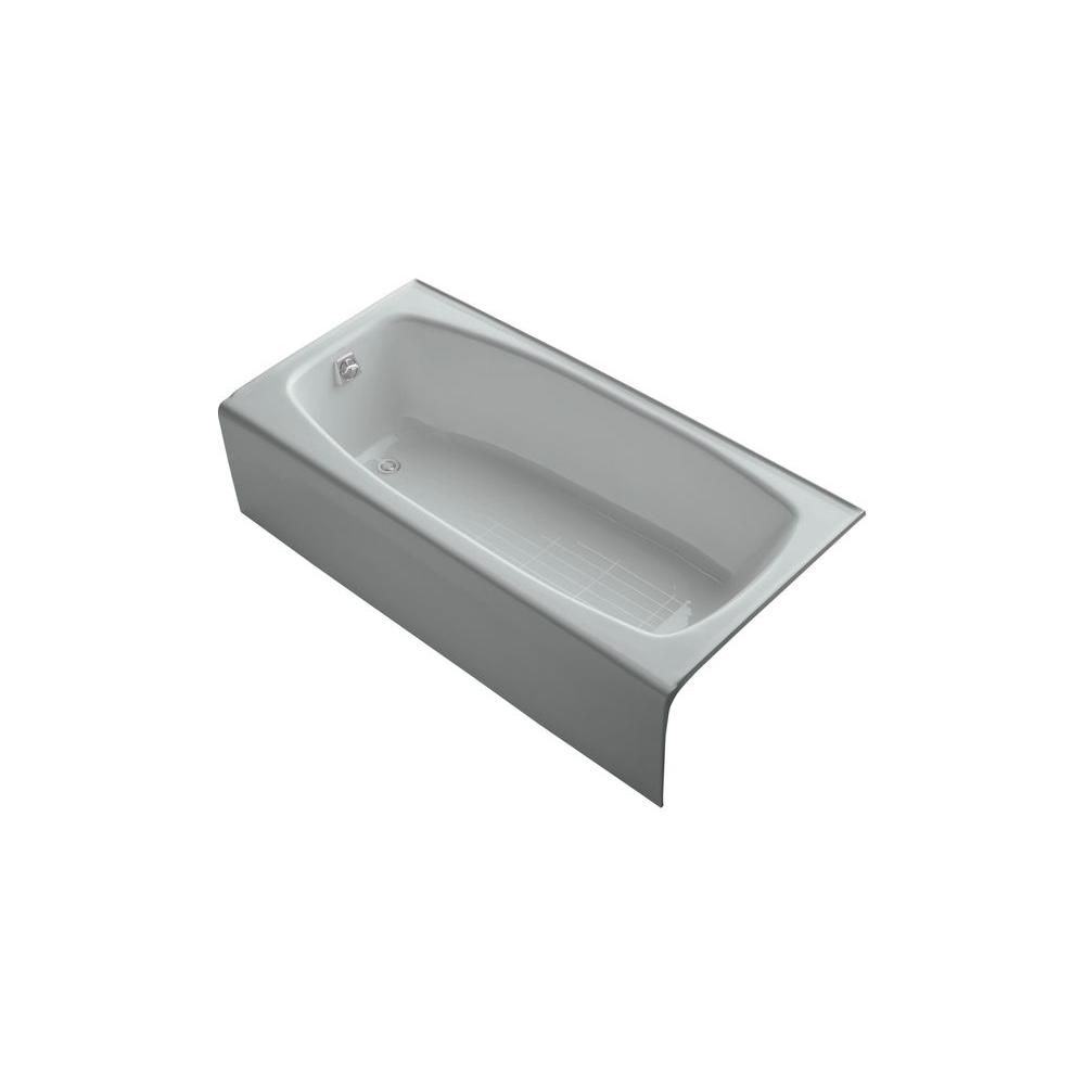 KOHLER Dynametric 5.5 ft. Left Drain Soaking Tub in Ice Grey-DISCONTINUED