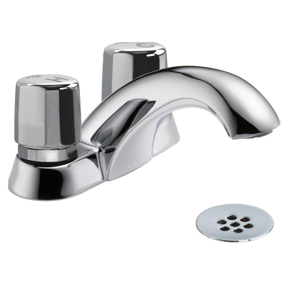 delta 2-handle metering kitchen faucet in chrome-2517lf-hdf - the home depot