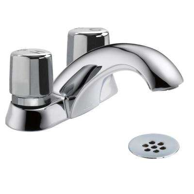 2-Handle Metering Kitchen Faucet in Chrome