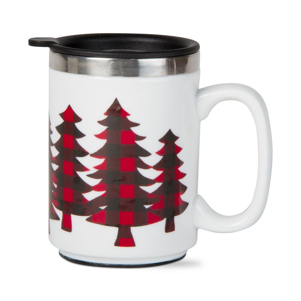 Buffalo Trees 16 oz. Red Insulated Travel Mug